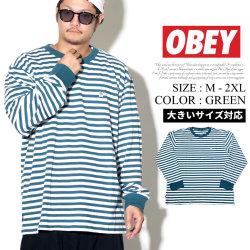 OBEY オベイ ロンT 長袖Tシャツ メンズ ボーダー柄 ストリート系 ファッション 服 通販 131030079 OBTT006