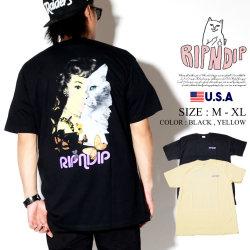 RIPNDIP リップンディップ Tシャツ メンズ 半袖 猫 ネコ 女性 人 ストリート系 ファッション Mask Tee 服 通販