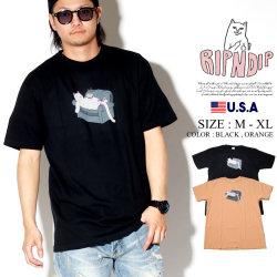 RIPNDIP リップンディップ Tシャツ メンズ 半袖 猫 ネコ ソファ ストリート系 ファッション Noodles Tee 服 通販