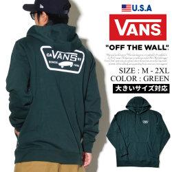 VANS バンズ プルオーバー パーカー メンズ ロゴ バックプリント スケーター ストリート系 ファッション 服 通販 VN0A2WF7 VNPT009