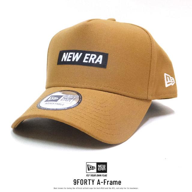 NEW ERA (ニューエラ) キャップ 9FORTY A-Frame ダックキャンバス ウーブンパッチ タン (12326305)