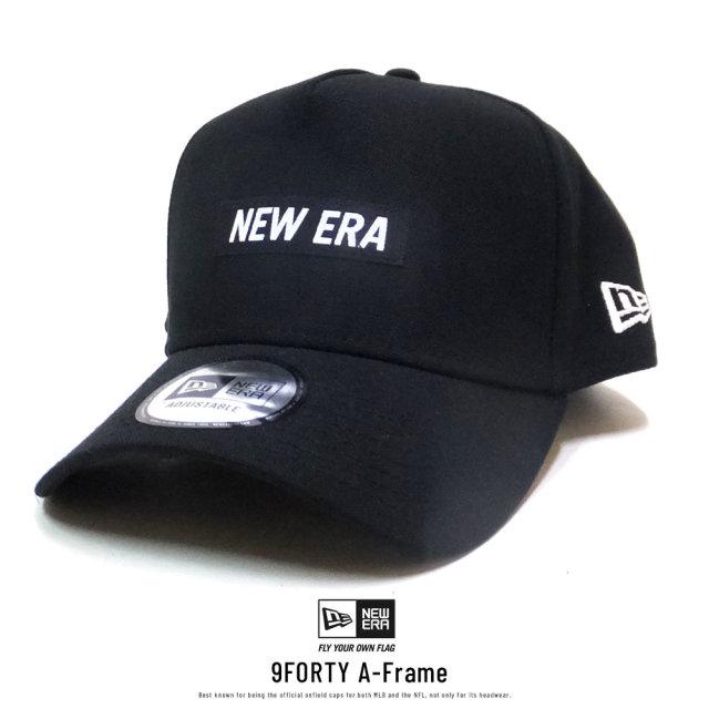NEW ERA (ニューエラ) キャップ 9FORTY A-Frame ダックキャンバス ウーブンパッチ ブラック (12326308)