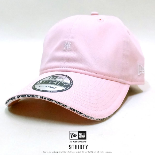 NEW ERA (ニューエラ) キャップ 9THIRTY ニューヨーク・ヤンキース サンドイッチバイザー ピンク×スノーホワイト (12326361)