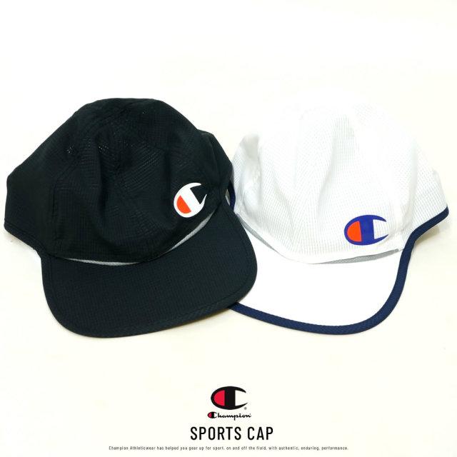 Champion (チャンピオン) キャップ 撥水 ストレッチ Cロゴ SPORTS CAP 20SS (C3-RS702C)