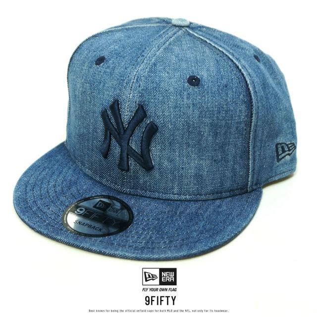 NEW ERA (ニューエラ) キャップ 9FIFTY ニューヨーク・ヤンキース ウォッシュドデニム×ミッドナイトネイビー (12326153)