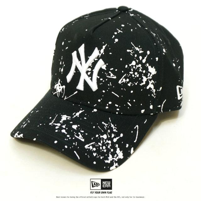 NEW ERA (ニューエラ) キャップ 9FORTY A-Frame スプラッシュペイント ニューヨーク・ヤンキース ブラック (12326298)