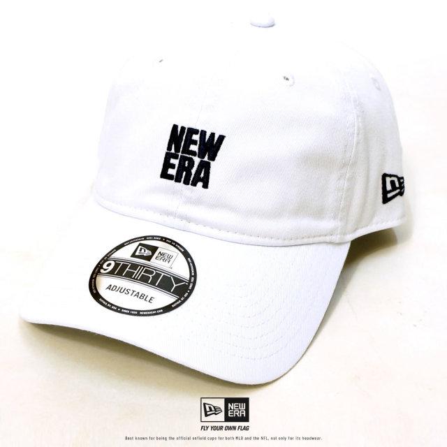 NEW ERA (ニューエラ) キャップ 9THIRTY クロスストラップ スクエアニューエラ ホワイト×ミッドナイトネイビー (12326324)