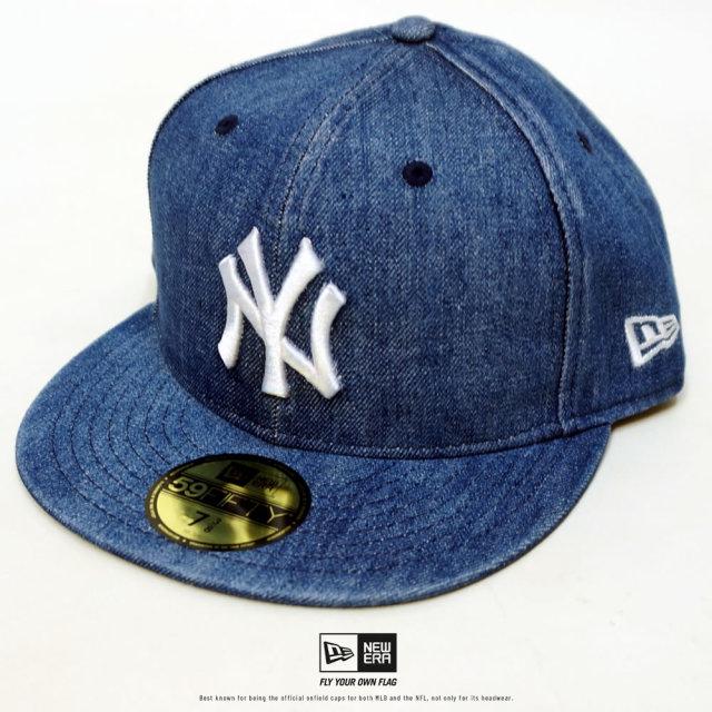 NEW ERA (ニューエラ) キャップ 59FIFTY ニューヨーク・ヤンキース ウォッシュドデニム×スノーホワイト (12326410)