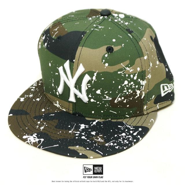 NEW ERA (ニューエラ) キャップ 59FIFTY スプラッシュペイント ニューヨーク・ヤンキース ウッドランドカモ (12326413)