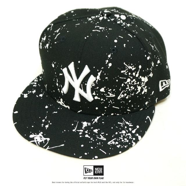 NEW ERA (ニューエラ) キャップ 59FIFTY スプラッシュペイント ニューヨーク・ヤンキース ブラック (12326417)