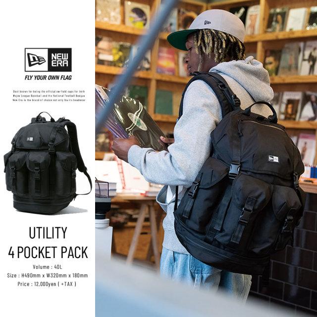 NEW ERA (ニューエラ) バックパック UTILITY 4 POCKET PACK ブラック (12325608)