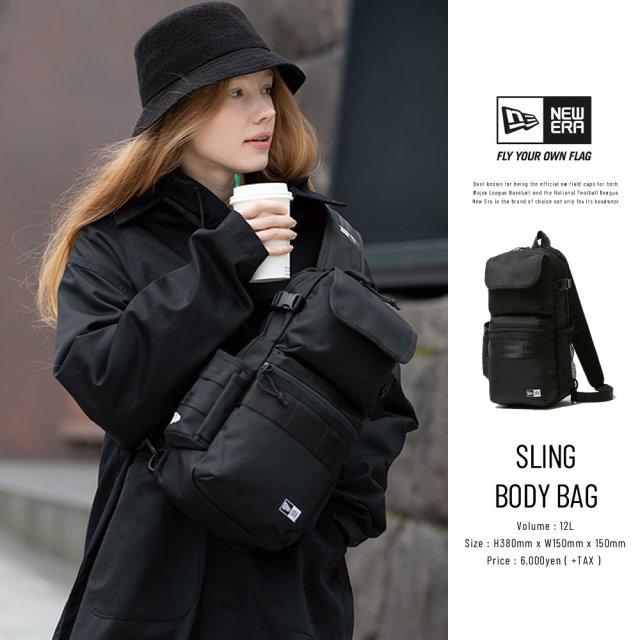 NEW ERA (ニューエラ) ボディバッグ SLING BODY BAG ブラック (12325629)