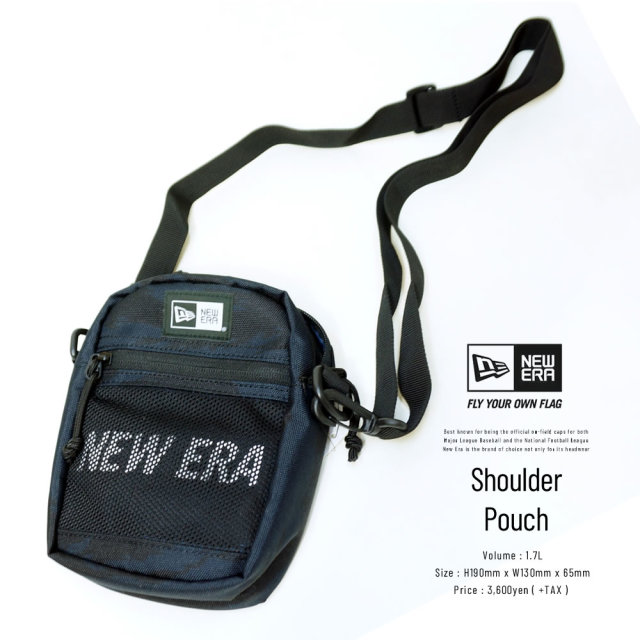 NEW ERA (ニューエラ) ショルダーポーチ SHOULDER POUCH 2 プリントロゴ タイガーストライプカモネイビー×ホワイト (12325636)