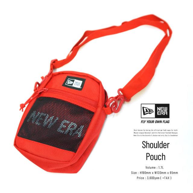 NEW ERA (ニューエラ) ショルダーポーチ SHOULDER POUCH 2 プリントロゴ レッド/ブラック×ホワイト (12325638)