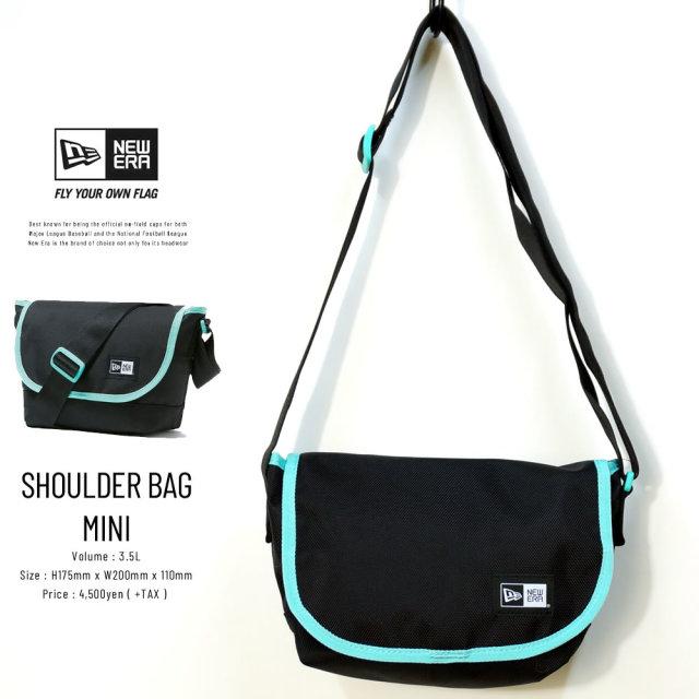 NEW ERA (ニューエラ) ショルダーバッグ ミニ SHOULDER BAG MINI ブラック/ミントブルー (12325645)