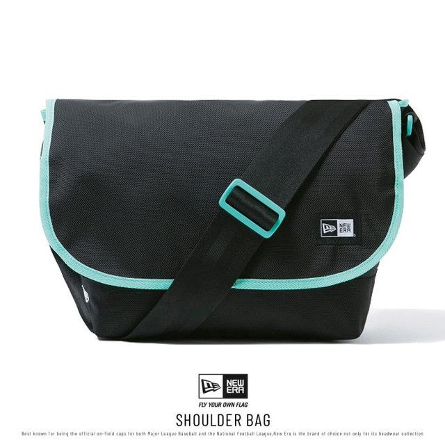 NEW ERA (ニューエラ) ショルダーバッグ SHOULDER BAG ブラック/ミントブルー (12325648)