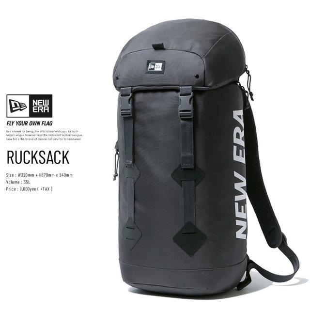 NEW ERA (ニューエラ) バックパック RUCK SACK プリントロゴ グラファイト×ホワイト (12325655)