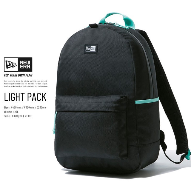 NEW ERA (ニューエラ) バックパック LIGHT PACK ブラック/ミントブルー (12325824)