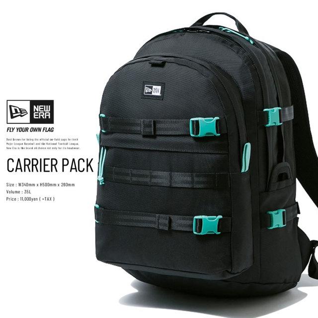 NEW ERA (ニューエラ) バックパック CARRIER PACK ブラック/ミントブルー (12326090)