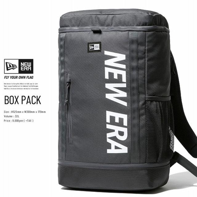 NEW ERA (ニューエラ) バックパック BOX PACK プリントロゴ グラファイト×ホワイト (12326115)
