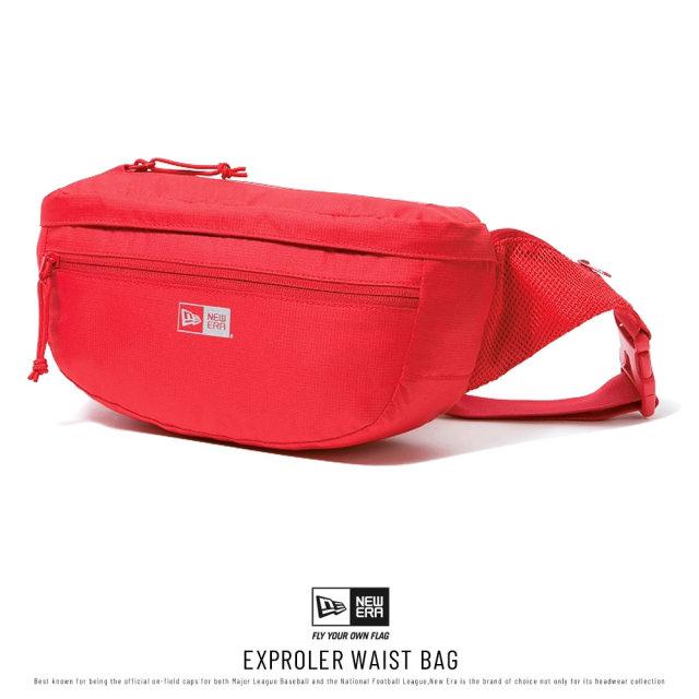 NEW ERA (ニューエラ) ウエストバッグ EXPLORER WAIST BAG レッド (12336599)
