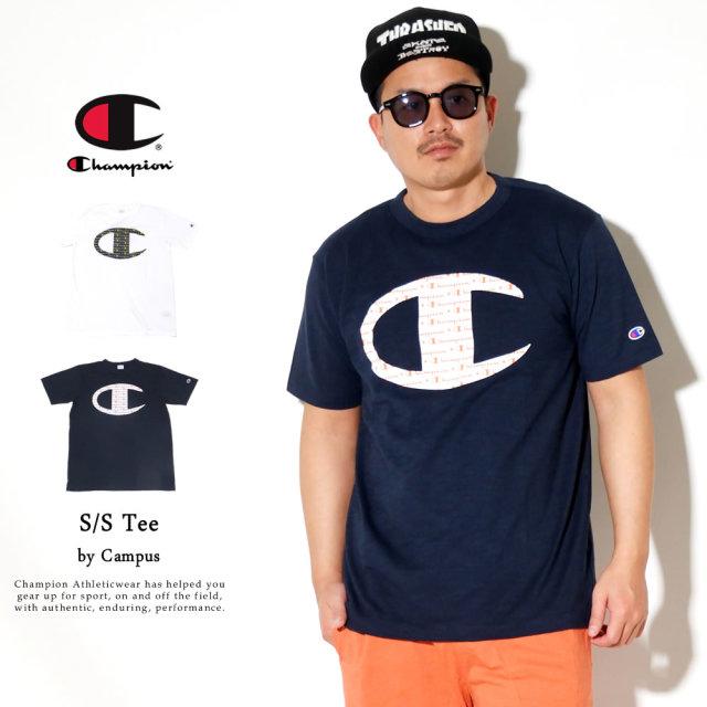 Champion (チャンピオン) Tシャツ メンズ 半袖 吸汗速乾 キャンパス COOLMAX Tシャツ (C3-R333)