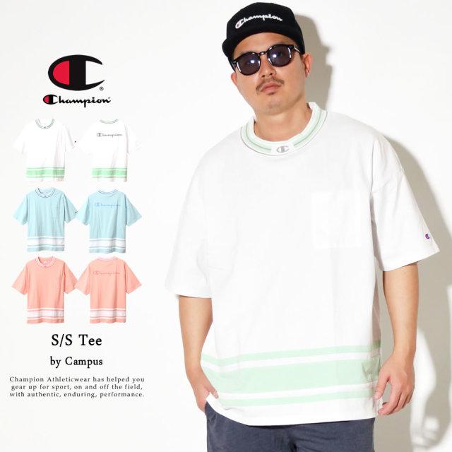 Champion (チャンピオン) ポケットTシャツ メンズ 半袖 キャンパス Tシャツ (C3-R334)