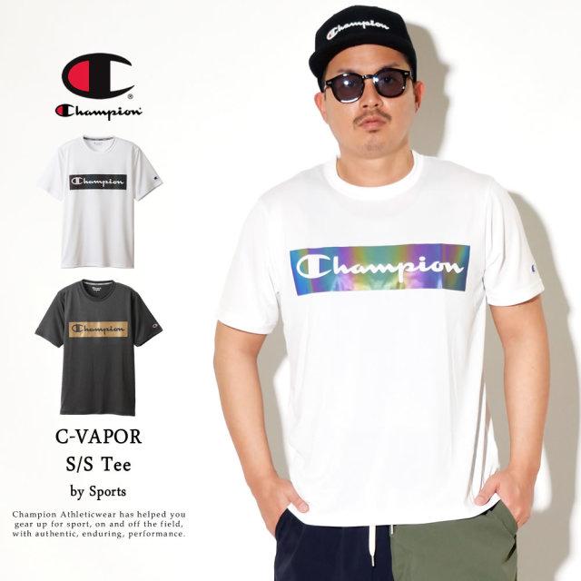 Champion (チャンピオン) Tシャツ メンズ 半袖 吸汗速乾 抗菌・防臭 スポーツ C VAPOR Tシャツ (C3-RS303)