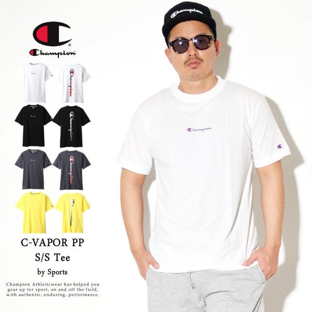 Champion (チャンピオン) Tシャツ メンズ 半袖 吸汗速乾 UVカット スポーツ C VAPOR PP Tシャツ (C3-RS309)