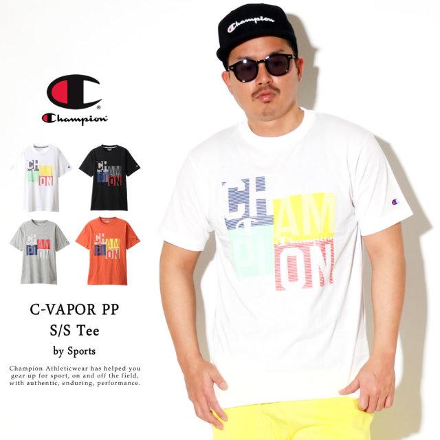 Champion (チャンピオン) Tシャツ メンズ 半袖 吸汗速乾 UVカット スポーツ C VAPOR PP Tシャツ (C3-RS310)