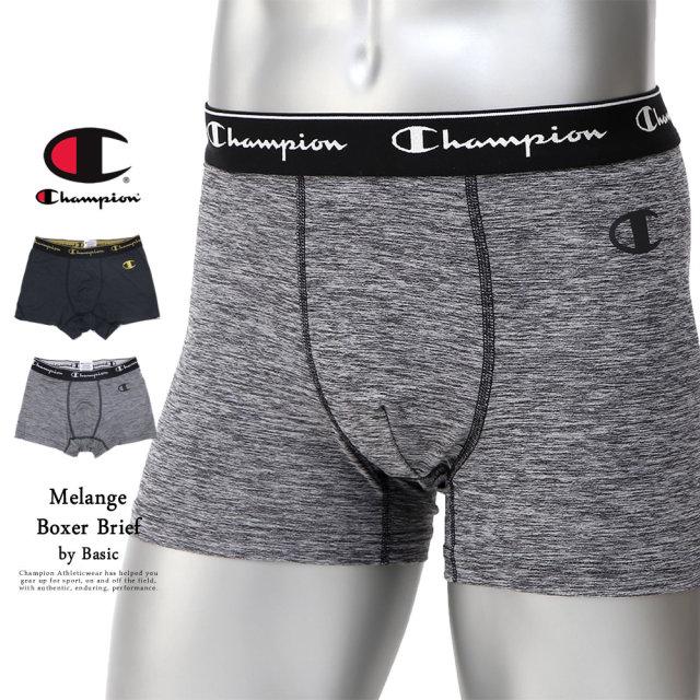Champion (チャンピオン) ボクサーパンツ メンズ アンダーウェア 下着 吸汗速乾 Doubledry Stretch Jersey メランジボクサーブリーフ (CM6-Q203)