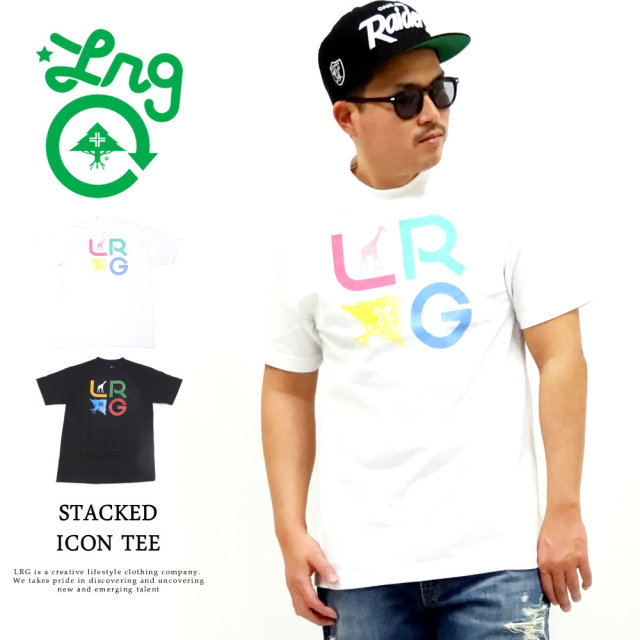 LRG (エルアールジー) Tシャツ メンズ 半袖 STACKED ICON TEE (J201010)