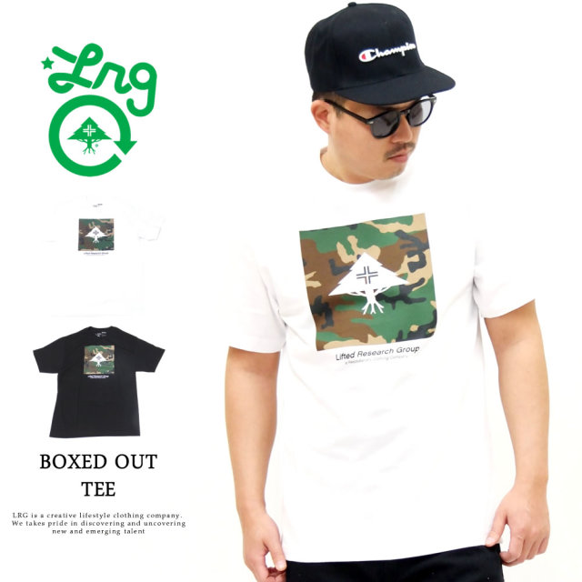 LRG (エルアールジー) Tシャツ メンズ 半袖 BOXED OUT TEE (A201012)