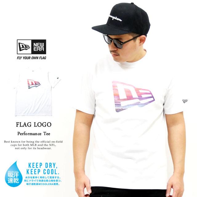 NEW ERA (ニューエラ) 半袖パフォーマンスTシャツ ユートピア フラッグロゴ ホワイト (12325105)