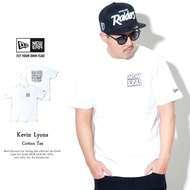 NEW ERA (ニューエラ) コラボ 半袖Tシャツ Kevin Lyons ケヴィン・ライオンズ オリジナル タイポグラフィー ホワイト (12362073)