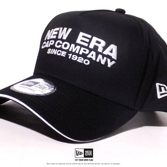 NEW ERA (ニューエラ) キャップ 帽子 メンズ レディース 9FORTY A-Frame サンドイッチバイザー NEW ERA CAP COMPANY 1920 ブラック×スノーホワイト (12479425)