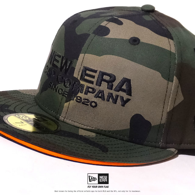 NEW ERA (ニューエラ) キャップ 帽子 メンズ 59FIFTY サンドイッチバイザー NEW ERA CAP COMPANY 1920 ウッドランドカモ×ブラック (12479429)