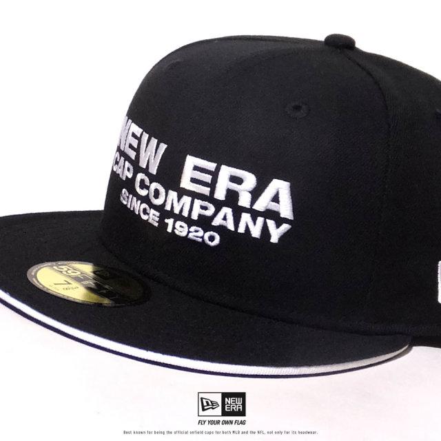 NEW ERA (ニューエラ) キャップ 帽子 メンズ 59FIFTY サンドイッチバイザー NEW ERA CAP COMPANY 1920 ブラック×ホワイト (12479431)