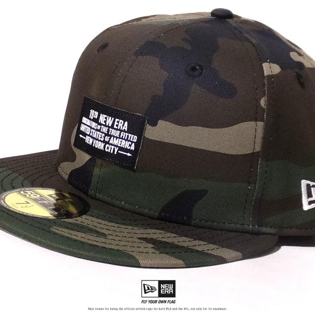 NEW ERA (ニューエラ) キャップ 帽子 メンズ 59FIFTY ウーブンパッチ NEW ERA 1920 ウッドランドカモ (12479439)