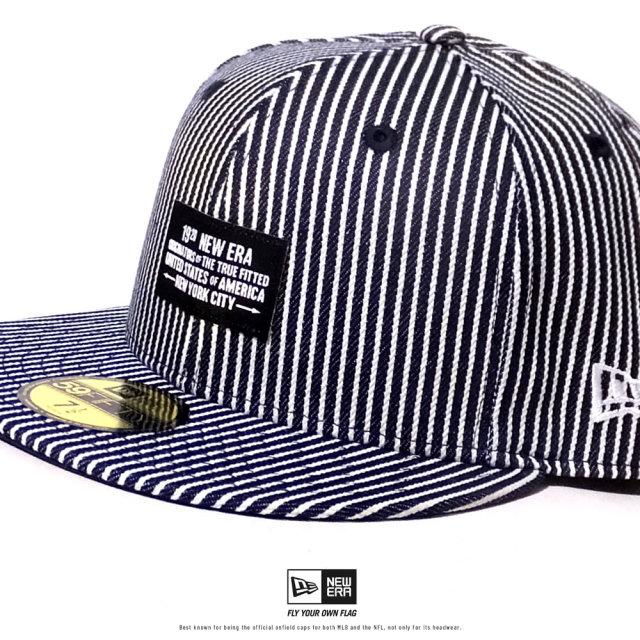 NEW ERA (ニューエラ) キャップ 帽子 メンズ 59FIFTY ウーブンパッチ NEW ERA 1920 ヒッコリー (12479441)