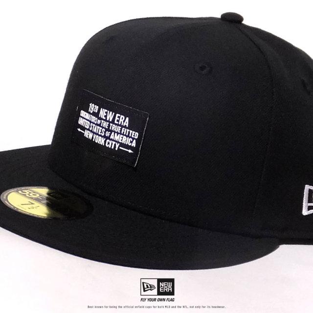 NEW ERA (ニューエラ) キャップ 帽子 メンズ 59FIFTY ウーブンパッチ NEW ERA 1920 ブラック (12479443)