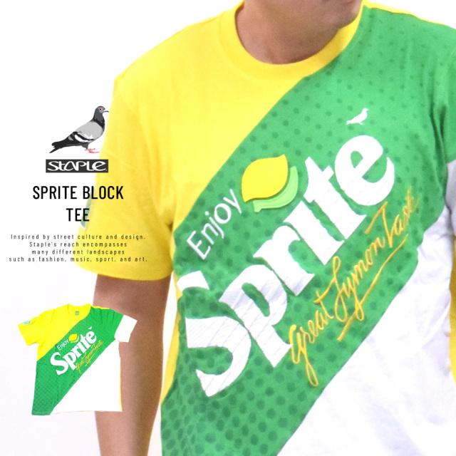 ステイプル×スプライト (STAPLE×SPRITE) コラボ Tシャツ メンズ 半袖 スプライトブロックTシャツ (2001C5817)