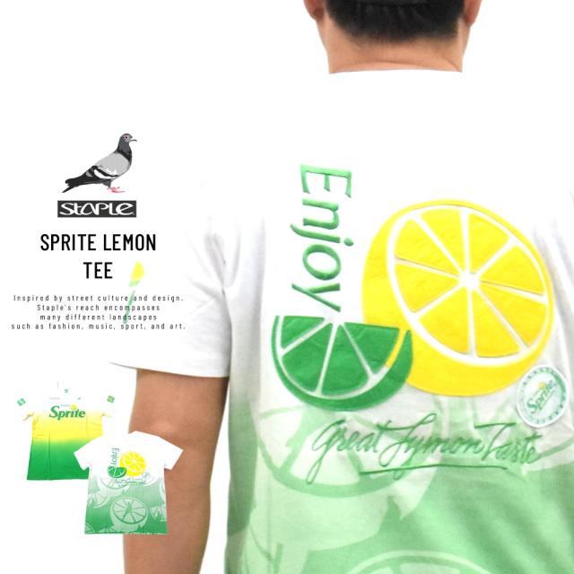 ステイプル×スプライト (STAPLE×SPRITE) コラボ Tシャツ メンズ 半袖 スプライトレモンTシャツ (2001C5818)