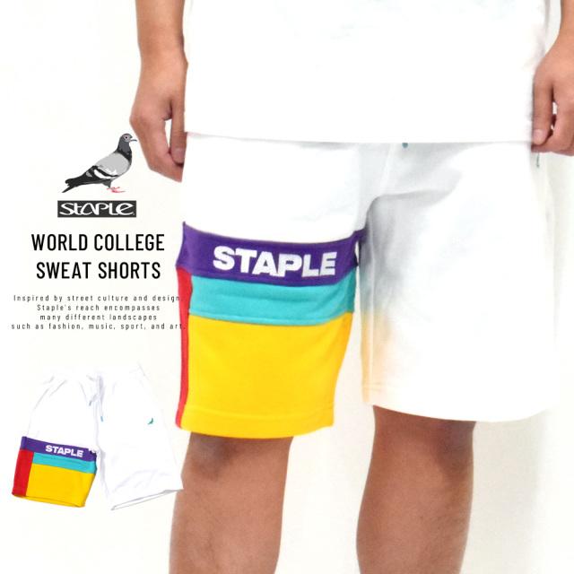 ステイプル (STAPLE) スウェットハーフパンツ メンズ ワールドカレッジスウェットショーツ (2001B5800)