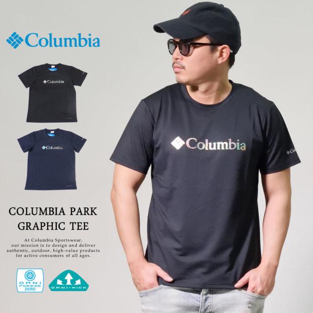 コロンビア (Columbia) 半袖Tシャツ 冷感機能 吸湿・速乾機能 M COLUMBIA PARK GRAPHIC TEE (AE0396)