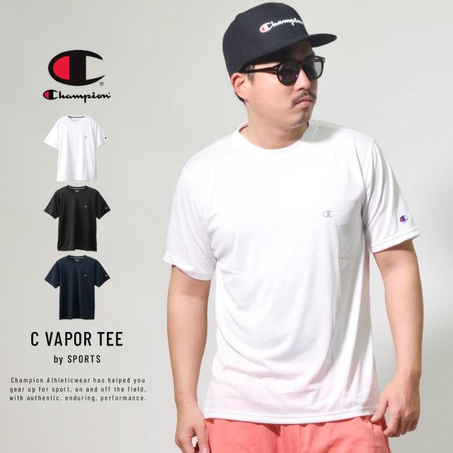 チャンピオン (Champion) 半袖Tシャツ 吸湿・速乾機能 抗菌・防臭機能 SPORTS C VAPOR TEE (C3-QS301)