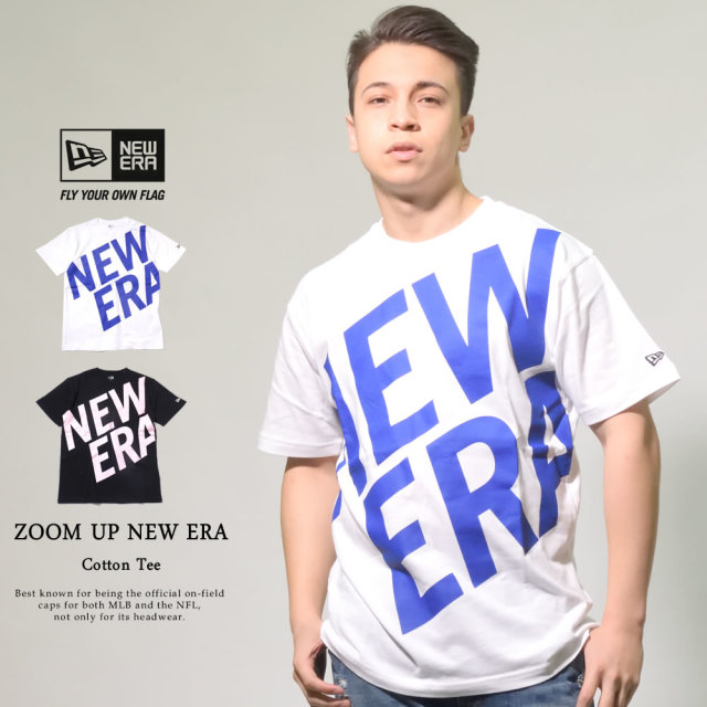 ニューエラ NEW ERA 半袖コットンTシャツ ズームアップ ニューエラロゴ レギュラーフィット