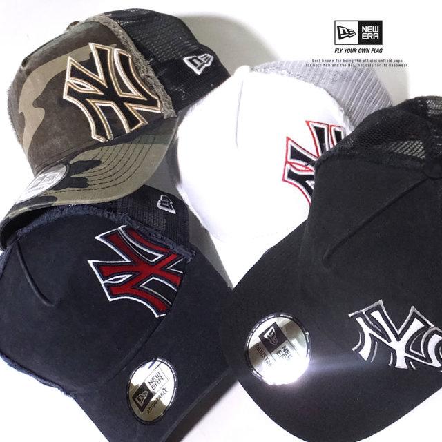 ニューエラ NEW ERA メッシュキャップ 帽子 9FORTY A-Frame バタリオン ニューヨーク・ヤンキース