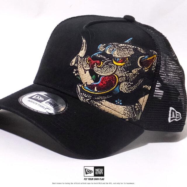 ニューエラ NEW ERA メッシュキャップ メンズ 帽子 9FORTY A-Frame トラッカー タトゥー刺繍 パンサー (12326211) 2020SS