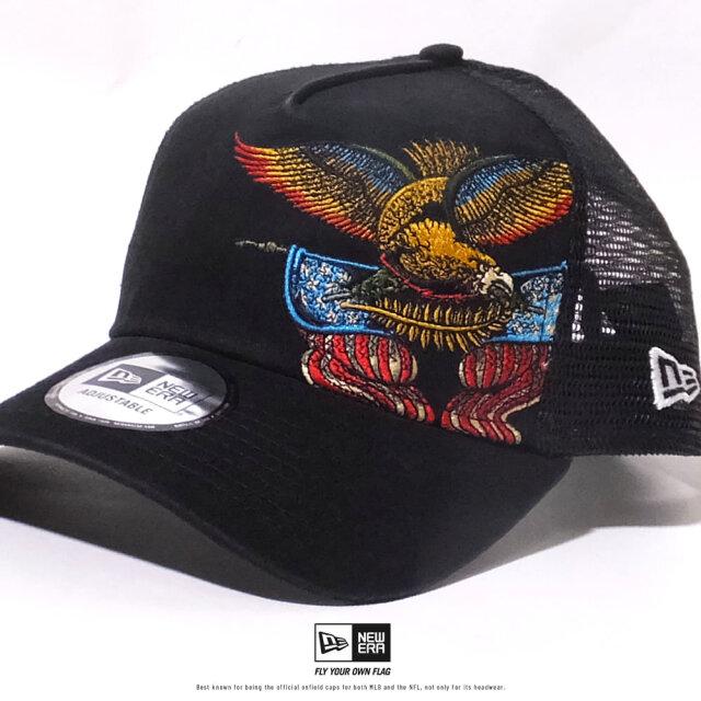 ニューエラ NEW ERA メッシュキャップ メンズ 帽子 9FORTY A-Frame トラッカー タトゥー刺繍 イーグル (12326213) 2020SS